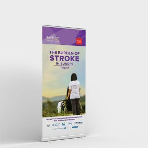 The Burden of Stroke Roll-up Banner